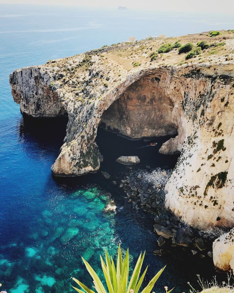 Um dos vários lugares lindos em Malta é a Gruta Azul ou Blue Grotto  - Foto: Flávio Antunes - Seguro viagem malta