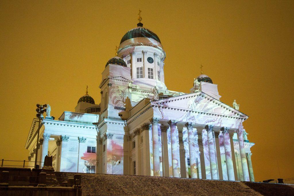 Catedral de Helsinque na capital da Finlândia