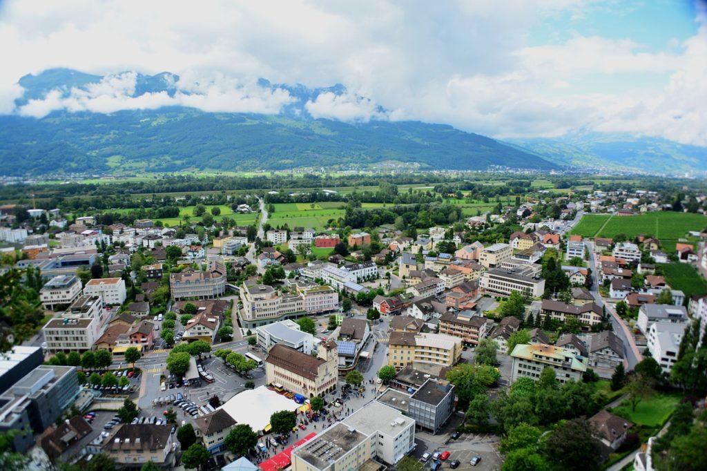 Vista do Principado de Liechtenstein - seguro viagem Liechtenstein