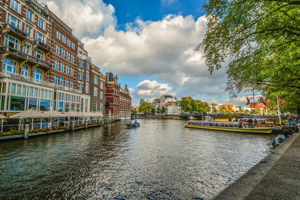 canais de Amsterdam na Holanda