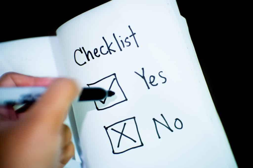 check list para cotação de seguro viagem